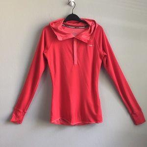 Nike Running Dri Fit wool blend snap button hoodie